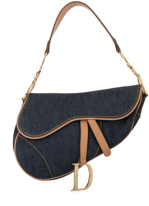 Christian Dior pre-owned denim Saddle shoulder bag