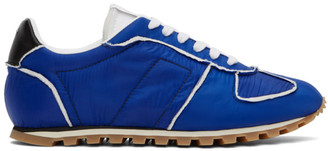 Maison Margiela Blue and White Runner Sneakers