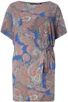 Dorothy Perkins DP Curve Paisley Print Soft Tie Waist Tunic