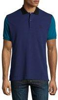 Burberry Gravehurst Colorblock Piqué Polo Shirt, Indigo