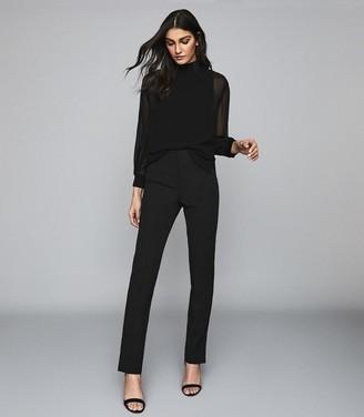 Reiss Valentina - Split Hem Tailored Trousers in Black