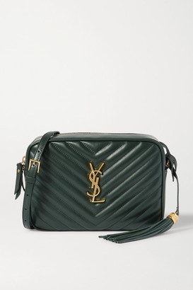 Saint Laurent Lou Quilted Leather Shoulder Bag - Green