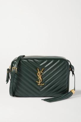 Saint Laurent Lou Quilted Leather Shoulder Bag - Green