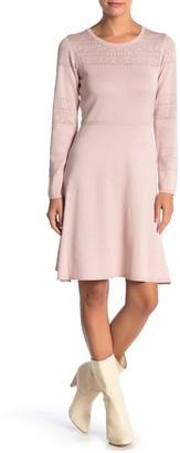 Julia Jordan Long Sleeve Knit A-Line Dress