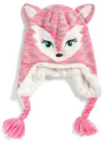 Capelli of New York Girl's Fox Earflap Hat - Pink