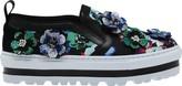 MSGM Women's Floral Platform Slip-on Sneaker