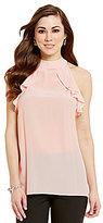 Antonio Melani Vanessa Ruffle Sleeveless Silk Blouse