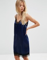 Asos Mini Slip Dress with Eyelash Lace Detail