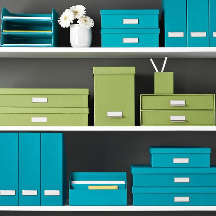 Container Store BigsoTM Stockholm Stacking Letter Tray Turquoise
