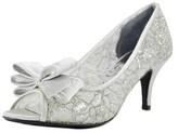 J. Renee Kaylee Women Peep-toe Synthetic Silver Heels.