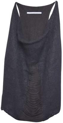 Isabel Benenato Black Wool Top for Women