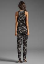 Diane von Furstenberg Shany Abstract Floral Lace Jumper