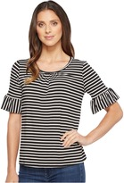 B Collection by Bobeau - Ellie Soft Flute Sleeve Knit Top Women's Short Sleeve Pullover