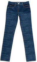 Chanel Straight-Leg Mid-Rise Jeans