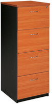 Filing Cabinet with 4 File Drawer Colour: Cherry / Iron Grey
