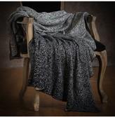 Ya-Ya & Co. Adele Black Ecru Cotton Knit Throw