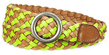 JCPenney Skinny Two-Tone Braided Belt