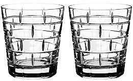 Rogaska Quoin Double Old-Fashioned Glass, Set of 2