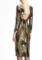 Gucci Jacquard Fern-Motif Backless Dress