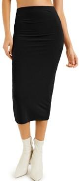 INC International Concepts Culpos X Inc Ribbed Midi Skirt, Created for Macy's