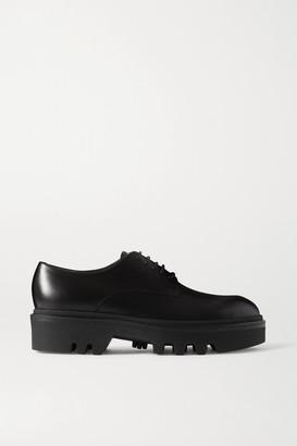 Dries Van Noten Glossed-leather Brogues - Black