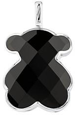 Tous Sterling Silver Onyx Large Bear Pendant