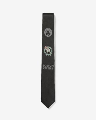 Express Skinny Boston Celtics Nba Silk Tie