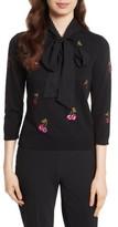 Kate Spade Women's Sequin Cherries Sweater