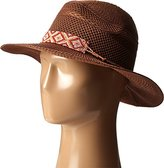 San Diego Hat Company Women's Knit Fedora with Beaded Band and Faux Suede Tie