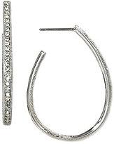 Nadri Pave J-Hoop Earrings