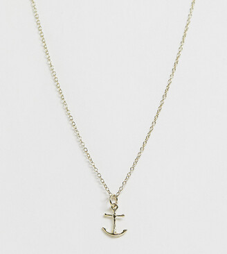 Kingsley Ryan sterling silver gold plated anchor necklace