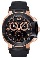 Tissot Men's T-Race Chronograph Silicone Strap Watch, 50Mm