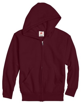 Hanes Boys EcoSmart Fleece Full Zip Hooded Jacket, Sizes 4-18