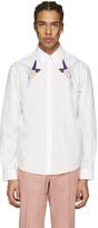 Stella McCartney White Embroidered Bird Shirt