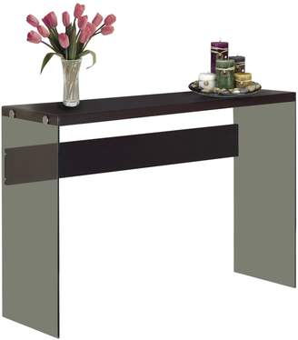 Monarch Tempered Glass Console Table