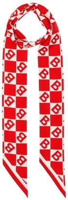 Burberry Silk Logo Motif Scarf