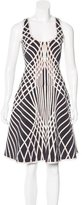 Herve Leger Eva Optic Jacquard Dress