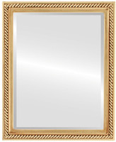 Jefferson Framed Rectangle Mirror in Gold Leaf