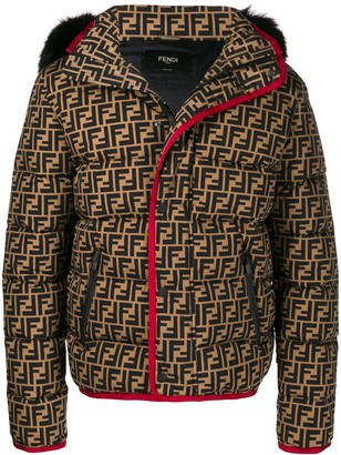 Fendi FF motif puffer jacket