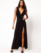 Asos Grecian Maxi Dress with Thigh Split
