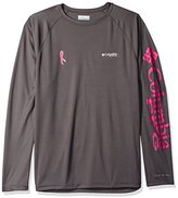 Columbia Men's Tested Tough In Pink Terminal Tackle Long-Sleeve Shirt