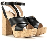 Gianvito Rossi Mytheresa.com Exclusive Suzie Leather Platform Sandals
