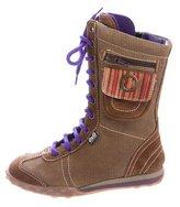 Dolce & Gabbana Girls' Suede-Trimmed Corduroy Boots