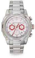 Saks Fifth Avenue Stainless Steel Embossed Chronograph Dial Watch