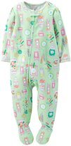 Carter's Print Footie (Toddler) - Poodle-3T