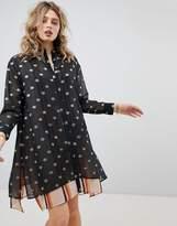 Maison Scotch Double Layer Printed Shirt Dress