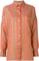 Hache striped shirt - women - Silk/Cotton/Linen/Flax/Viscose - 38