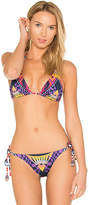 Agua Bendita Ipomea Top in Navy. - size M (also in S)