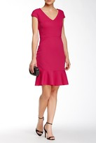 Julia Jordan 33393 Flounce Hem Cap Sleeve Dress