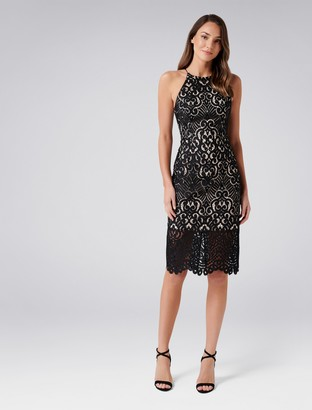 Forever New Debbie Lace Pencil Dress - Black - 4